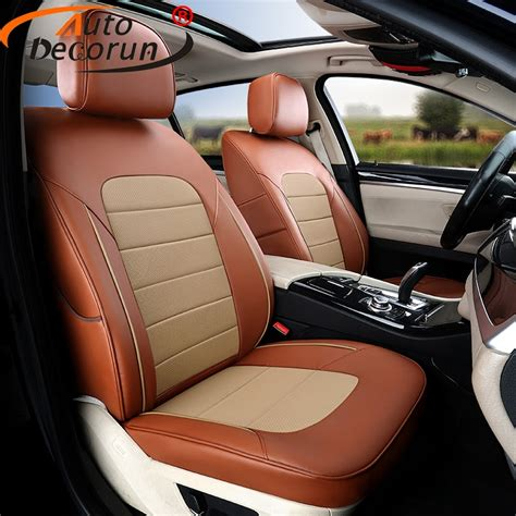Cowhide Seat Covers by Autodecorun Cowhide Leather Car Seat Covers For Ford