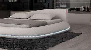 Bett Mit Led : designerbett rundbett modica luxus polsterstoff bett mit led beleuchtung ebay ~ Orissabook.com Haus und Dekorationen
