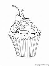 Colorear Dibujos Cupcake Cupcakes Colorir Colorare Babeczki Imprimir Ausmalbilder Kolorowanka Pintar Disegni Dibujo Dessin Desenhos Kolorowanki Zum Gratis Malvorlagen Ausdrucken sketch template