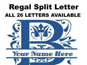 Regal Split Letter B - Fancy Letter Monogram - Split Letter Monogram Stickers - Laptop Decals - Yeti Tumble Stickers - Yeti Monograms -Decal