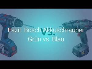 Bosch Akkugeräte Blau : fazit bosch akkuschrauber gr n vs blau youtube ~ Avissmed.com Haus und Dekorationen