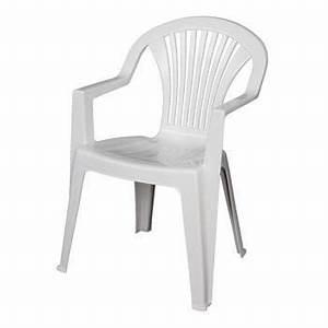 Chaise Jardin Plastique : chaise de jardin lido blanc areta achat vente fauteuil jardin chaise de jardin lido blanc ~ Teatrodelosmanantiales.com Idées de Décoration