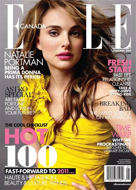 Natalie Portman For Elle Canada January Artamby Blog