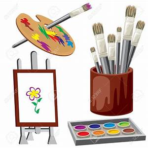 Paint clipart painting tool - Pencil and in color paint ...
