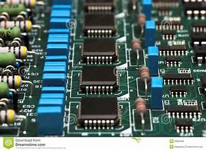 Electronic Circuit Board Stock Photo  Image Of Condenser
