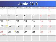 Calendario junio 2019 imprimible PDF abccalendarioes