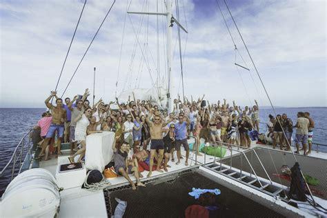 Catamaran Ibiza Boat Party ibiza catamaran party white ibiza the ibiza guide