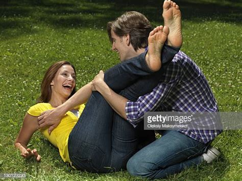 Barefoot Tickle Stock Photos And Pictures