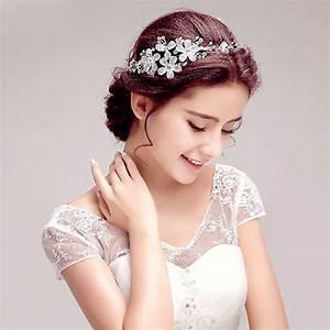 bijou de tete mariage fleur le son de la mode With bijoux de tete mariee