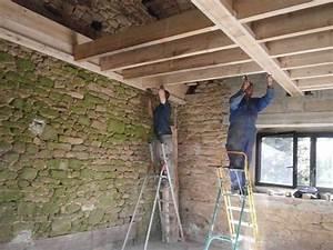 Plancher Bois Etage : solivage bois tage lamaisondessavides ~ Premium-room.com Idées de Décoration