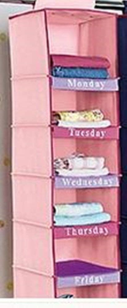 Days Of The Week Closet Organizer For by Avon Pink Days Of The Week Children S Hanging Shelf