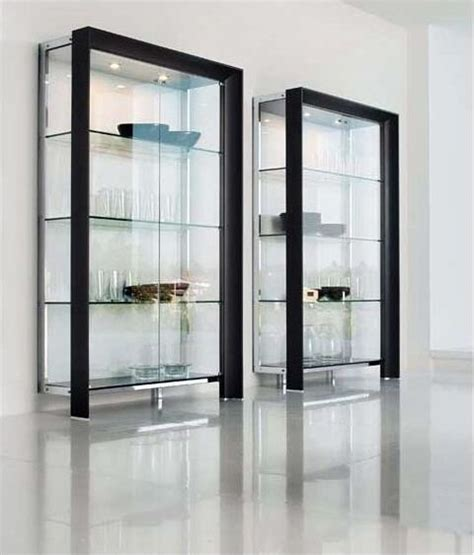 Contemporary Glass Display Cabinet by Glass Shelves Glassshelves Pinteres