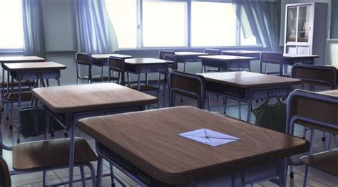 anime scenery school classroom   love letter