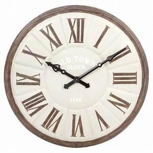 Horloge Murale Industrielle : horloge murale industrielle old town 115cm gris ~ Teatrodelosmanantiales.com Idées de Décoration