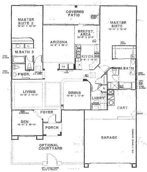 Master Suite House Plans by Floor Plans With 2 Masters Floor Plans With Two Master
