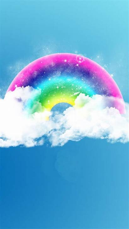 Rainbow Clouds Fantasy Iphone Phone Fluffy Android