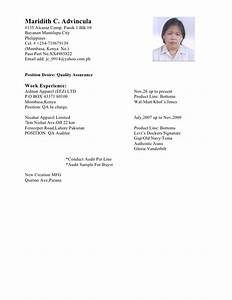 Garment quality control resume sample for Garment quality control resume