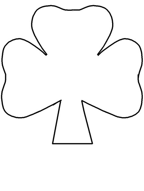 Shamrock Template Free by Shamrock Template Outline Clipart Best
