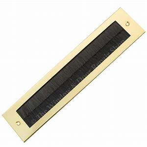 internal letter plate brush draught excluder seal letter With letter box cover