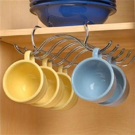 cup holders for kitchen cabinets shelf coffee cup mug holder hanging rack cabinet 8518