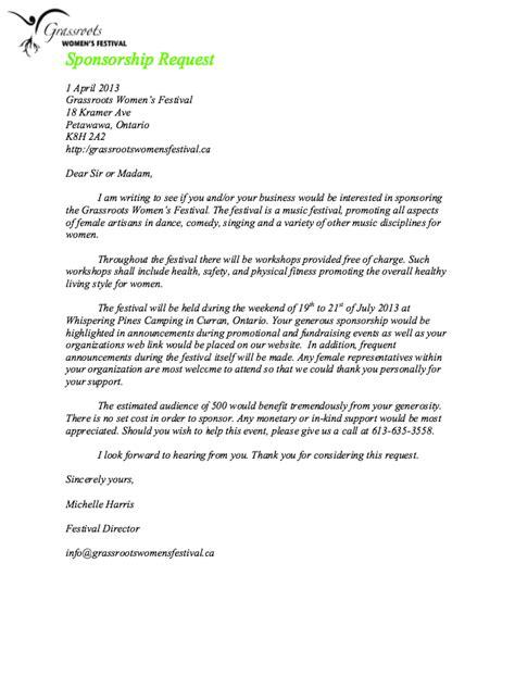 athletic resume for sponsorship sponsorship request letter sle http resumesdesign sponsorship request letter sle
