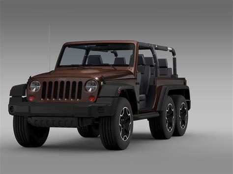 jeep new model 2016 jeep wrangler rubicon 6x6 2016 3d model max obj 3ds