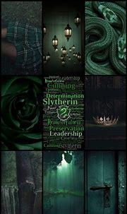 Slytherin Harry Potter Dark green wallpaper aesthetic ...