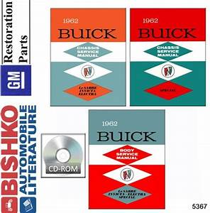1962 Buick Skylark Special Shop Service Repair Manual Cd