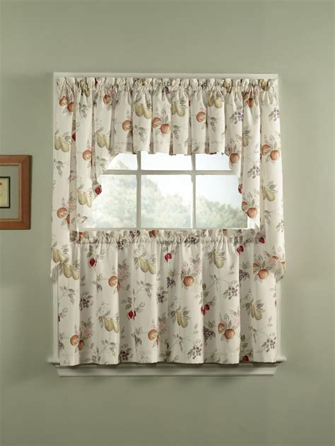 kmart kitchen curtains simply window sunflower kitchen curtain tier pair home
