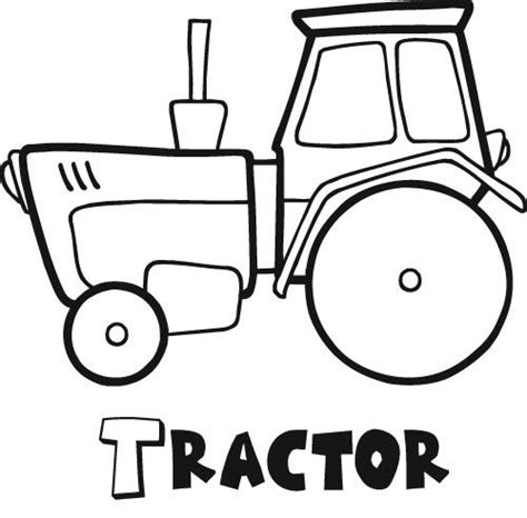 tractor coloring pages getcoloringpagescom