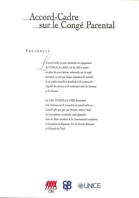 accord cadre europeen sur le teletravail signature of the european framework agreement on parental leave brussels 14 12 1995 etuc