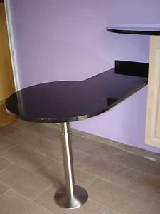Plan De Travail Pour Bar : granits d co table bar en granit noir zimbabwe finition ~ Dailycaller-alerts.com Idées de Décoration