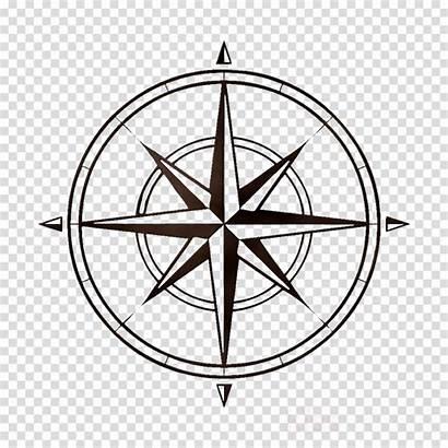 Rose Compass Clipart Circle Printable Transparent Blank