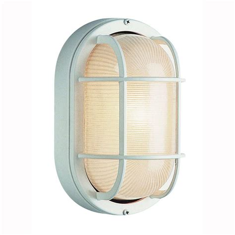 bel air lighting bulkhead 1 light outdoor white wall or ceiling mounted fixture with frosted