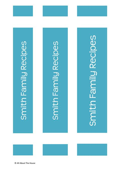 binder spine template recipe template allaboutthehouse printables
