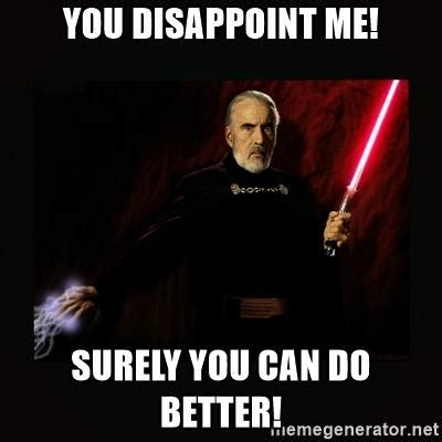 Count Dooku Meme - when your friend can t make a dank count dooku meme prequelmemes