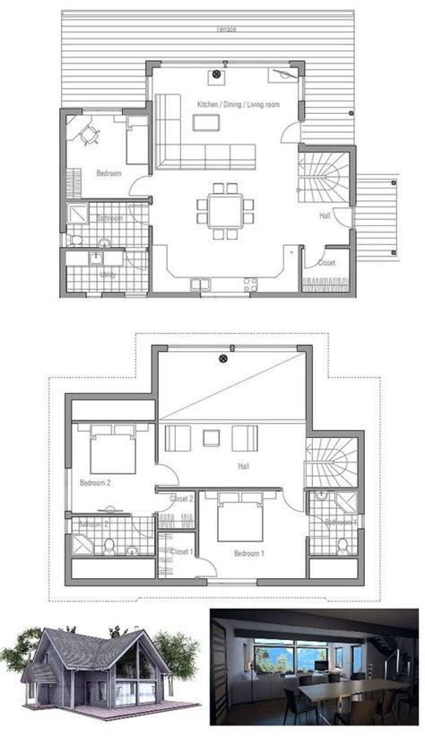 small house plans small houses and vaulted ceilings on