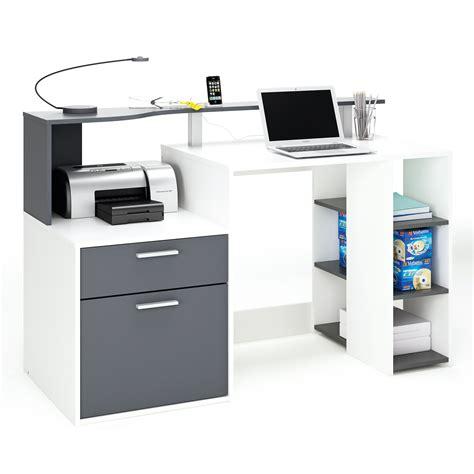 bureau informatique pas cher bureau informatique 1tiroir 1porte 1étagère l139 8xh91cm