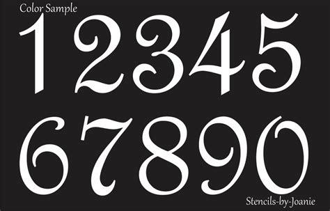 Hausnummer Schablonen Vorlagen by Stencil Script Numbers Lake House