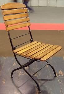 Chaise Bois Et Fer : chaise bois et fer sduisant chaise bois jardin a propos ~ Melissatoandfro.com Idées de Décoration
