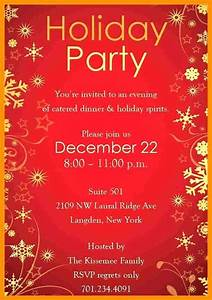 Holiday Invitation Templates Free Word