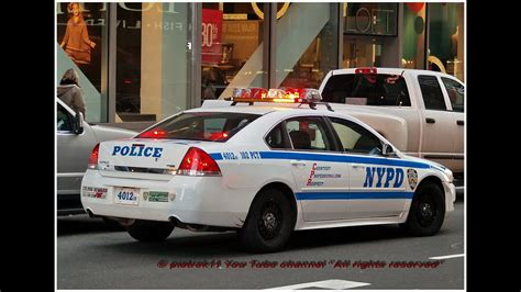 Emergency Siren And Lighting Responding Nypd Police Car