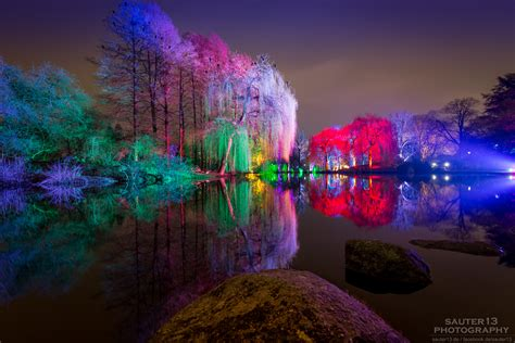 winterlichter im luisenpark mannheim foto bild