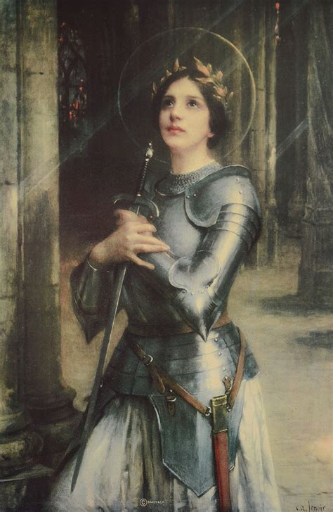 Saint Joan Of Arc In Reims Cathedral Poster