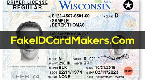 wisconsin drivers license template psd id card