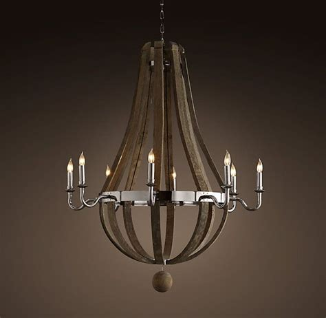 wine barrel 8 arm chandelier polished nickel from