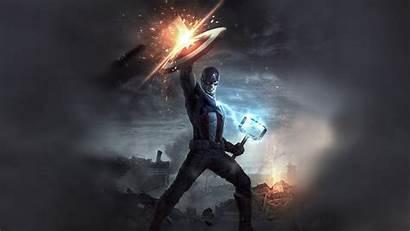 Captain America 4k Mjolnir Wallpapers Shield Resolution
