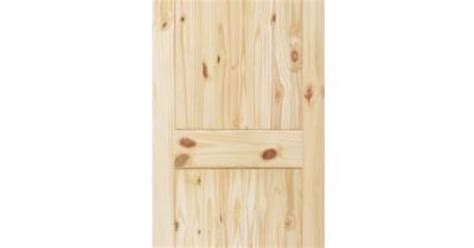Steves & Sons 2-panel Square Plank Unfinished Knotty Pine