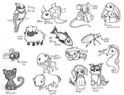 cute chibi animals   crimsonangelofshadow  deviantart