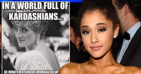Memes De Kim Kardashian - ariana grande uses kardashian and princess diana meme to